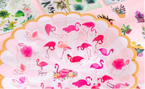 lot de stickers flamant rose