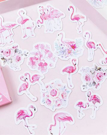 stickers flamant rose scrapbooking