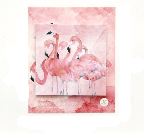 post it flamant rose note autocollantes