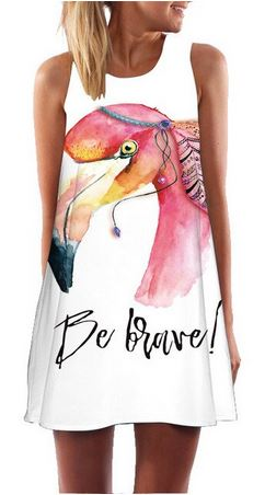 robe flamant rose hippie chic