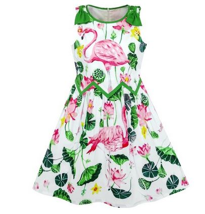 robe pin up flamant rose enfant