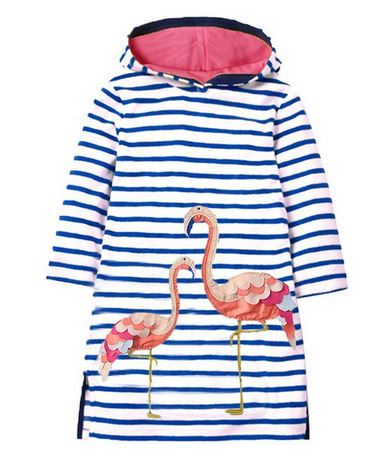 robe flamant rose manches longues