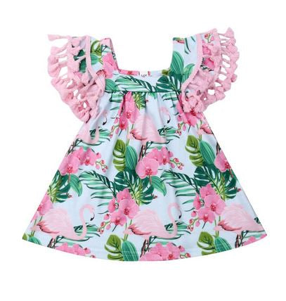 robe bebe flamant rose
