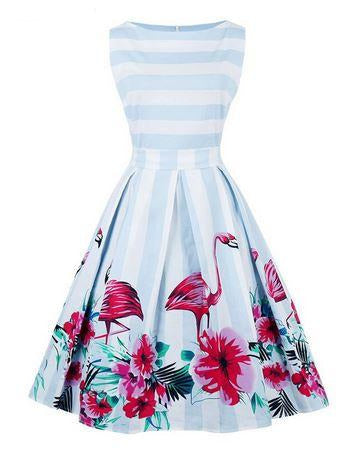 robe flamant rose femme ronde