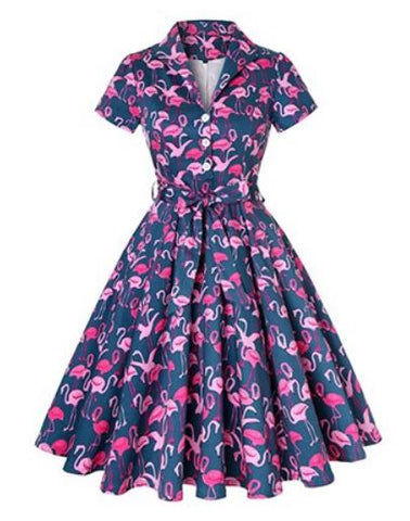 robe cintree flamant rose