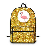 sac a dos flamant rose pailletee or