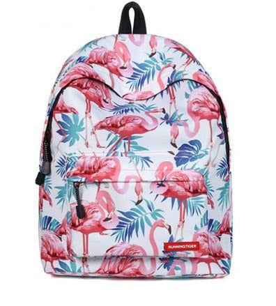 sac a dos fantaisie flamant rose costaud