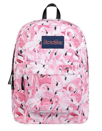 sac d'ecole flamant rose solide rembourre