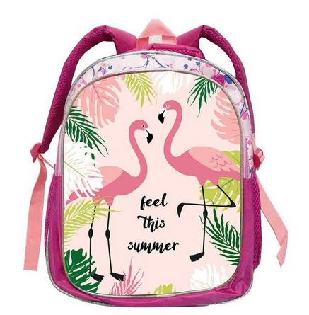 grand cartable pour maternelle flamant rose
