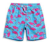 short de bain flamant rose