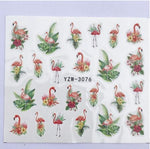 planche stickers pour ongles flamant rose
