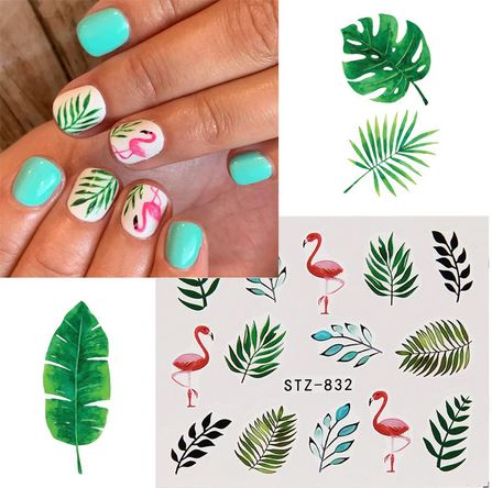 stickers nail art flamant rose ongles pas cher
