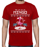 t shirt flamant rose homme noel rouge