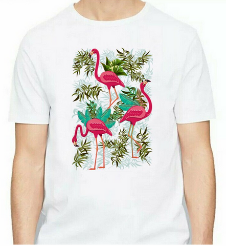 t-shirt homme flamant rose tendance