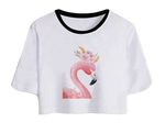 top fille flamant rose croc top pas cher