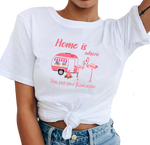 t-shirt flamant rose femme sexy humour