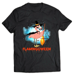 t shirt flamant rose homme halloween