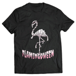 t shirt homme flamant rose halloween marrant