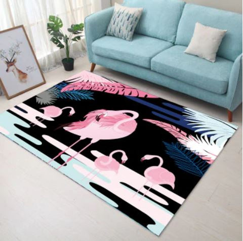 tapis flamant rose anti derapant