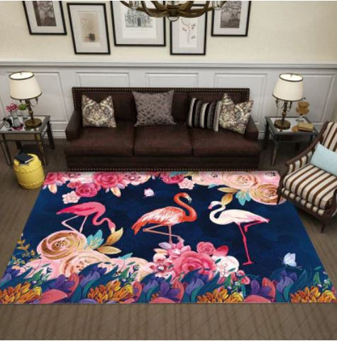 tapis flamant rose design