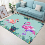 tapis flamant rose dessin kawaii