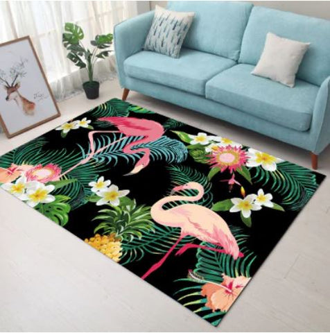 tapis flamant rose horizontal