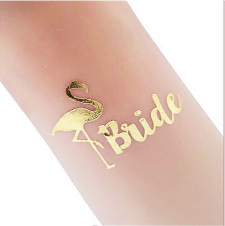 Tatouage Flamant Rose Bride Or