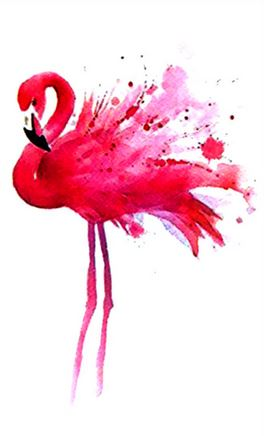 tatouage flamant rose confetti