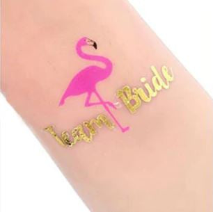 Tatouage Flamant Rose EVJF