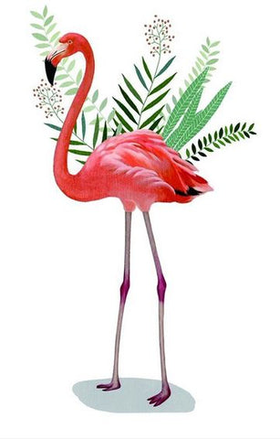 Tatouage Flamant Rose Jungle grand cuisse dos bras