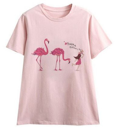 tee-shirt flamant rose h&m humour message