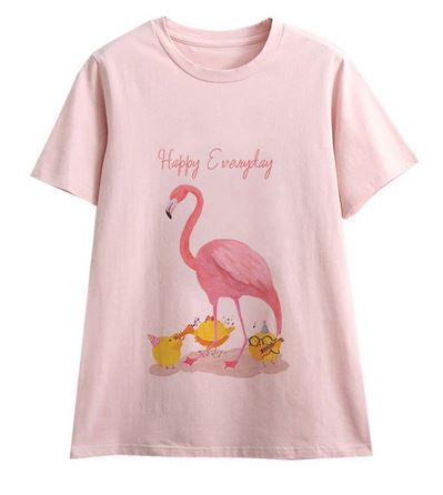 tee-shirt femme flamant rose maman fille mere