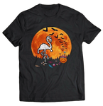 tee shirt flamant rose halloween humoristique