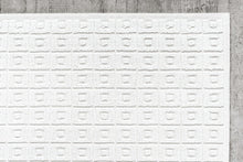 Load image into Gallery viewer, 70 X 140 Quadretto Puntino White Rug