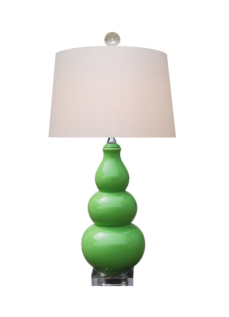 Apple Green Triple Gourd Lamp