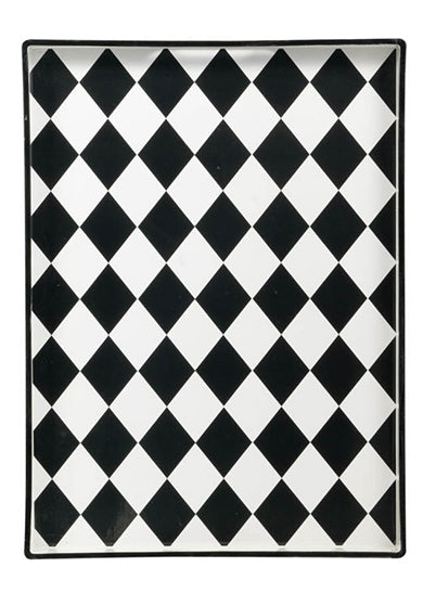 Black and white Harlequin Tray
