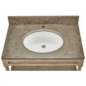 "Beckley 32"" Single Vanity, Oak"