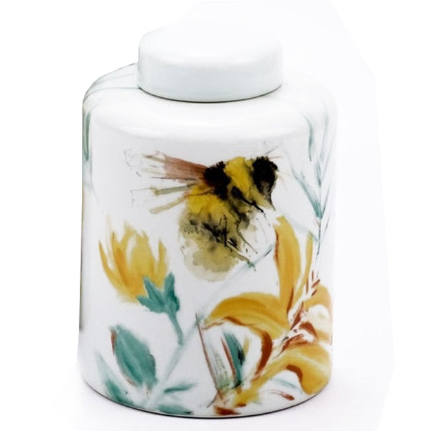 Bee Tea Jar with Lid