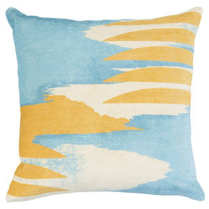 Beatriz Blue and yellow pillow 20 x 20