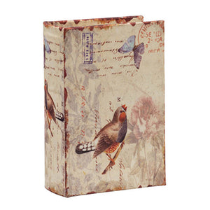 Vintage Bird Book Box - Butterfly and Bird