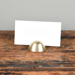 Mini Brass Place Card Holder