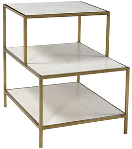 Byrne Brass and Marble side table