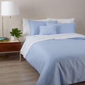 Café Blue Duvet Cover