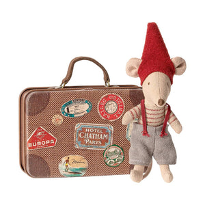 Christmas Mouse in Suitcase