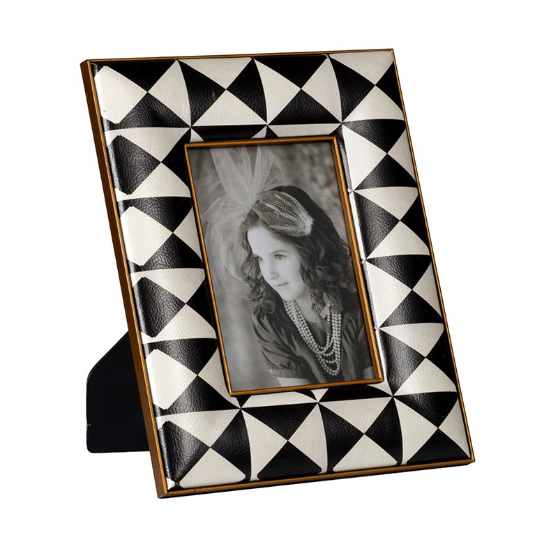 Black and White Quilted Photo Frame