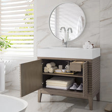 "Load image into Gallery viewer, Linear 36"" Single Vanity, Whitewashed Walnut"