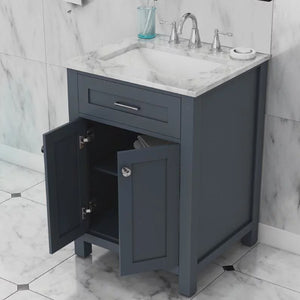 "Norwalk 24"" Single Vanity, Grey"