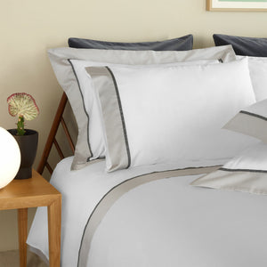 Ovar White/Grey Flat Sheet