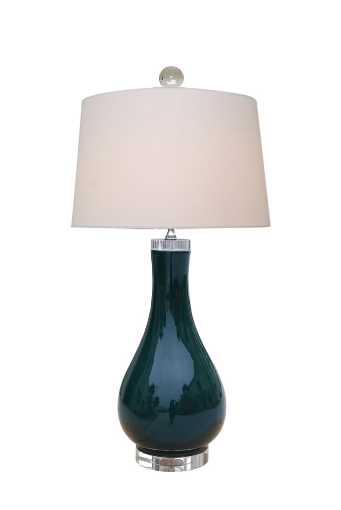 Peacock Green Table Lamp