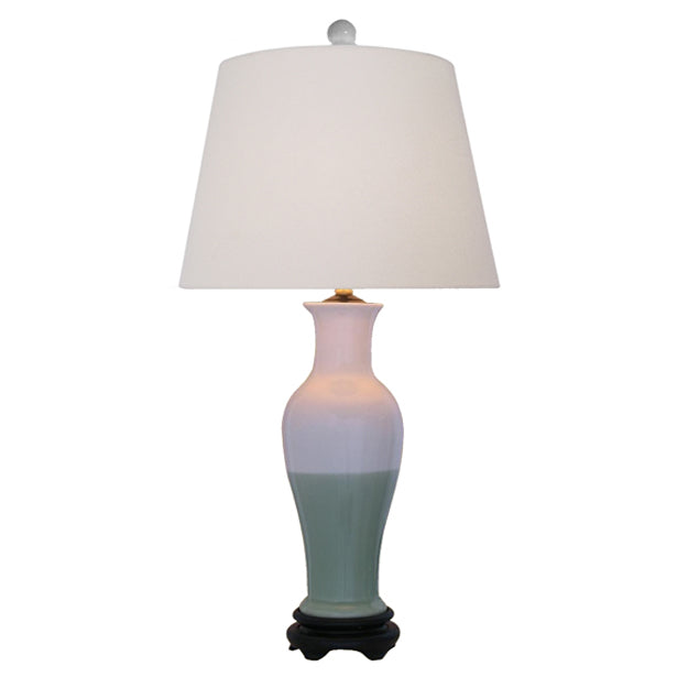 Porcelain Two-Tone Lamp